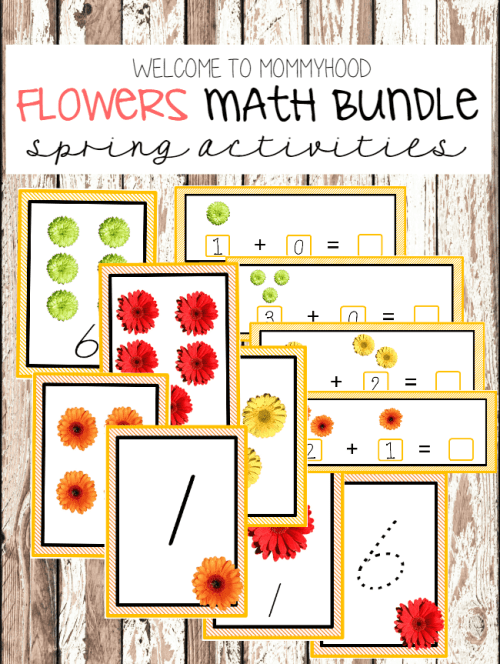 Spring Preschool Activities: Flowers Printables #springpreschoolactivities #montessoriactivities