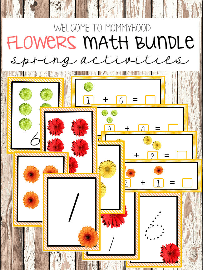 Spring Preschool Activities: Flowers Printables #springpreschoolactivities #montessoriactivities