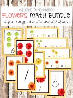Spring Preschool Activities: Flowers Printables