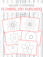 Spring activities: flowers pin punching