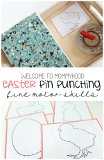Easter activities for preschoolers – pin punching printables