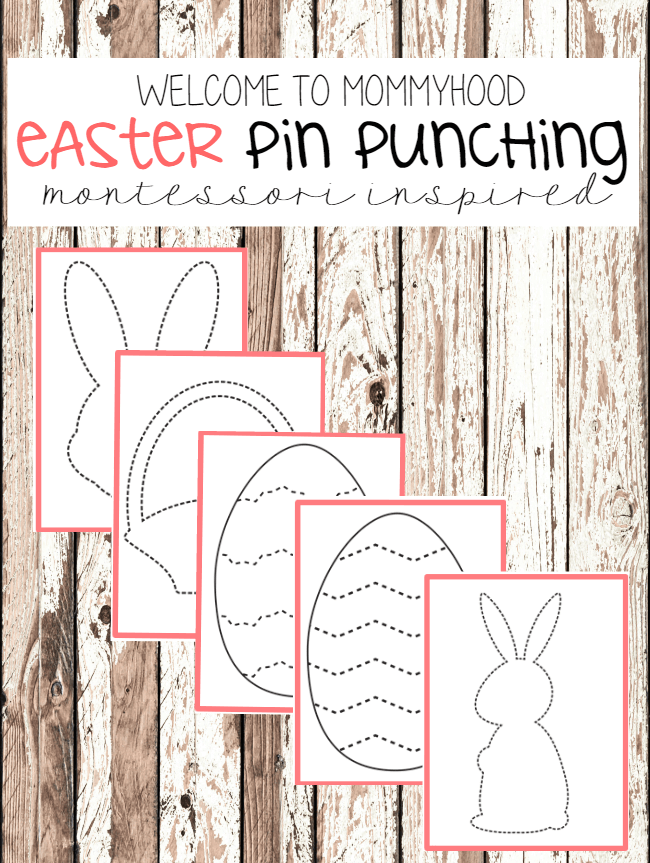 Easter activities for preschoolers - pin punching printables #montessoriactivities, #easteractivities
