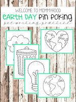 Earth Day Activities: Montessori Pin Punching