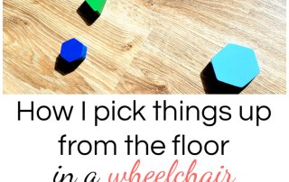 How to pick things up from the floor from a wheelchair #paralysis