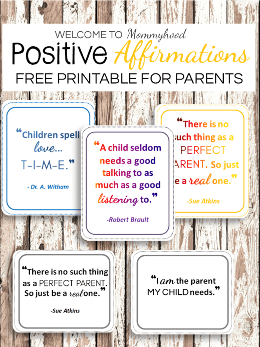 positive affirmations for parents