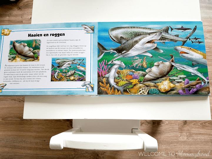 Shark activities: shark puzzle book #montessoriactivities #sharkactivities