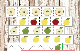 Montessori Printables: Apple Cutting Strips