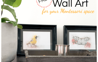 Watercolor Wall Art. Looking for beautiful decorations for your child's space? These gorgeous printables are available on the blog! Perfect for a Montessori bedroom or play space. #montessori #montessorihome