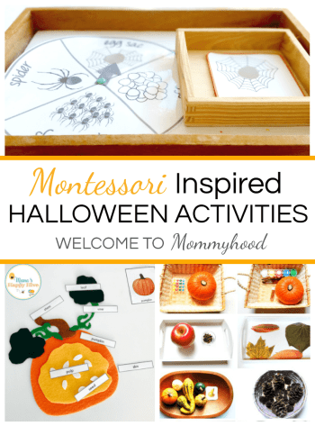 Montessori Halloween Activities and Printables #MontessoriActivities #HalloweenActivities