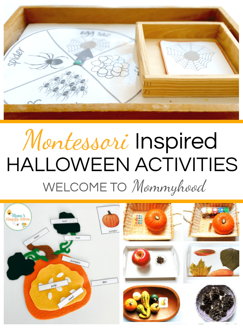 Montessori Halloween Activities and Printables #MontessoriActivities #HalloweenActivities
