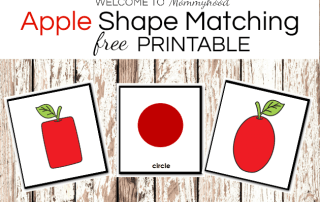 Apple Shape Matching Printable for Kids #fallactivities #preschoolactivities