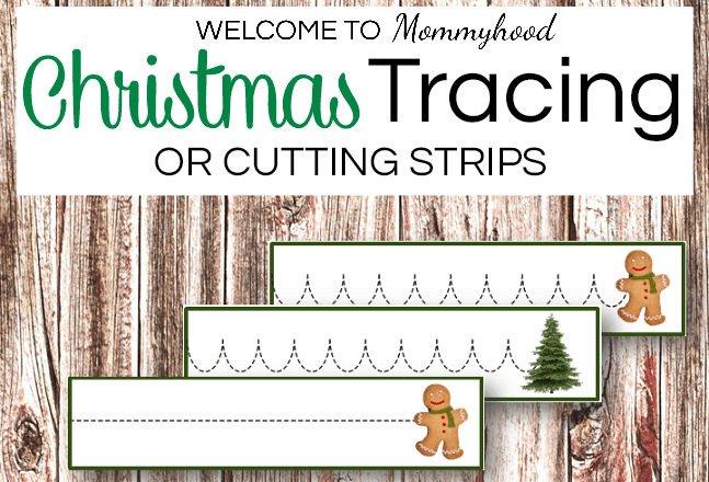 Christmas tracing printables