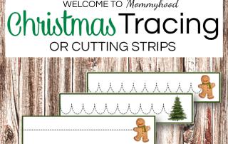 Christmas tracing printables