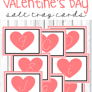 Valentine's Day Writing Tray Cards
