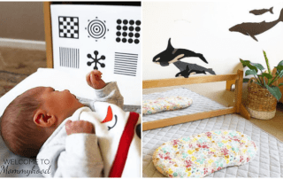 Montessori baby bedrooms - a quick guide to setting up your Montessori baby space #montessorihome #montessoribaby #montessoriathome