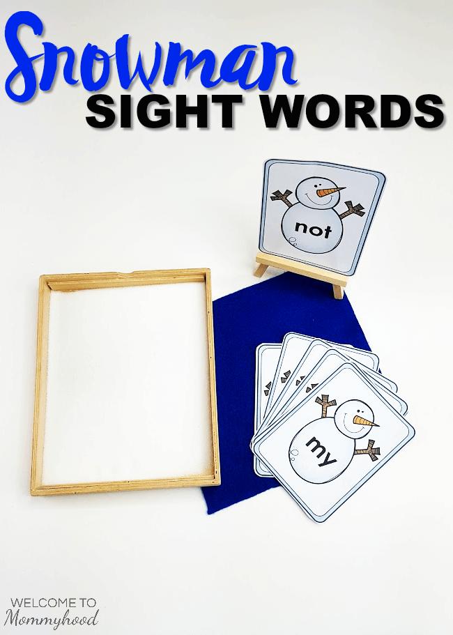 Winter Activities for Kids: Snowman Sight Words #winteractivities #sightwords
