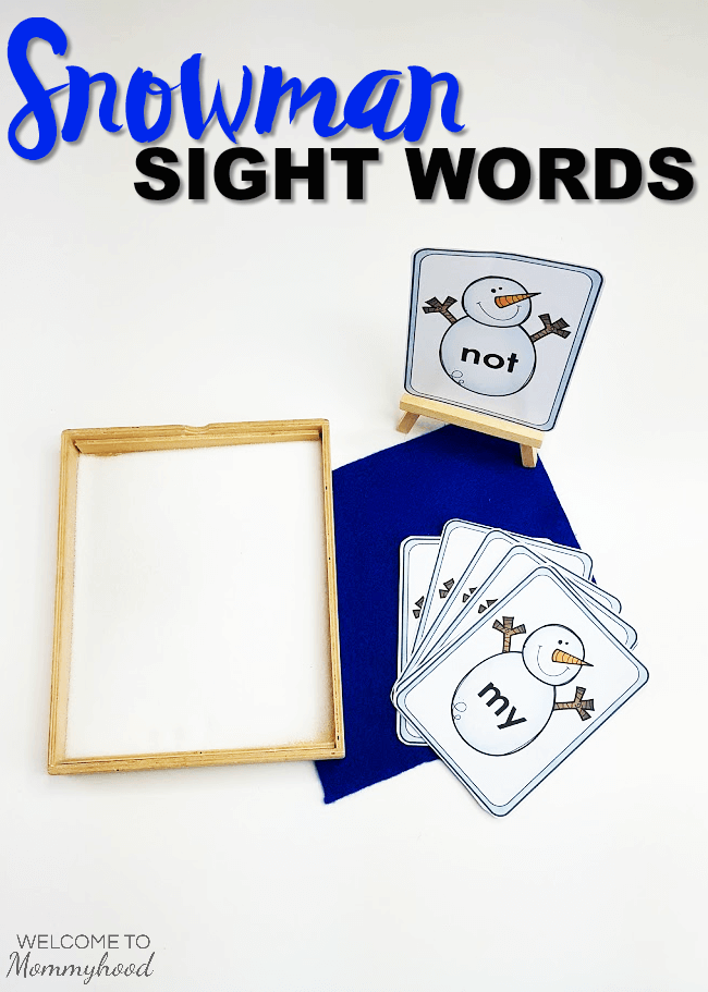 Winter Activities for Kids: Snowman Sight Words #winteractivities #sightwords