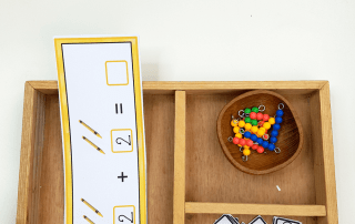 Use these Back to School printables to create hands-on addition activities your students will love! Perfect for math practice! #backtoschool #montessori #handsonactivities #mathpractice