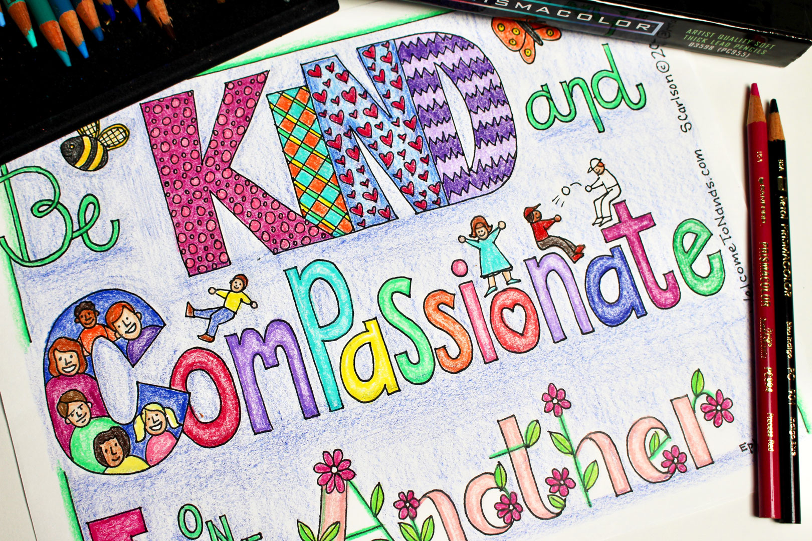 Free Kindness Coloring Page And Book List For Kids - Welcome To Nana's