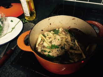 4. Chicken and parsnip stew with kale crisps