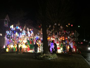"""The """"Freak Show"""" all of these lighted decorations are in one yard."""