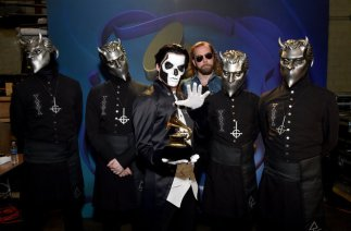 LOS ANGELES, CA - FEBRUARY 15: Musical group Ghost, winners of Best Metal Performance for 'Cirice', attend the GRAMMY Pre-Telecast at The 58th GRAMMY Awards at Microsoft Theater on February 15, 2016 in Los Angeles, California. (Photo by Mike Windle/WireImage)
