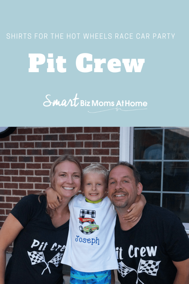 Pit Crew shirts for hot wheels race car party