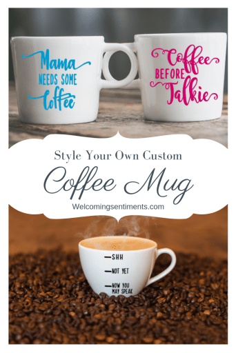 Personalized coffee mug for moms.  mama needs some coffee, coffee before talkie, shh, not yet, now you may speak