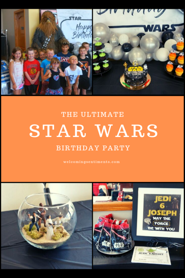 Star Wars birthday party, Jedi training.  Chewbacca, table decor, centerpieces, favors.
