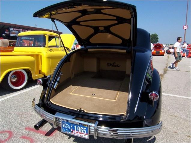 Camper trunk. Huge! Nicely upholstered.