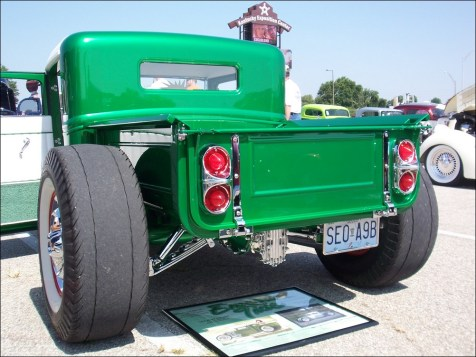 I spent a long time checking out all the neat pieces on this Model A pickup.