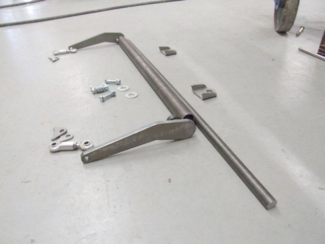"After the outer tube is trimmed, the sway bar can be cut to length as well. It will need to be about 2-1/8"" longer than the outer tube. Or you can line it up on the floor and mark it :)"