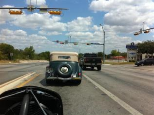 A Road Tour participant - first one seen as we approached our hotel in San Antonio (Schertz).
