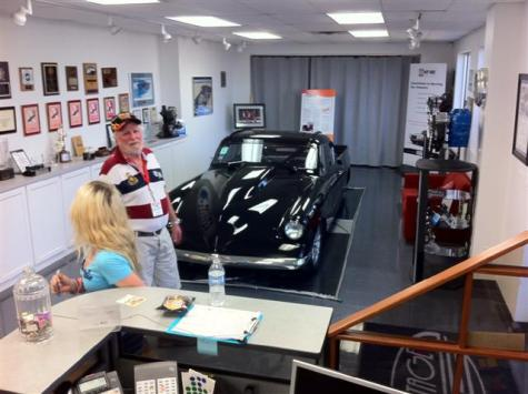 Vintage Air Showroom with Jack Chisenhall's 53 Studebaker. This car drove 219 MPH with the air on at Bonneville. Also quite impressive.