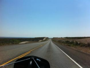 This is a view of the road used by the Border Patrol vehicles.