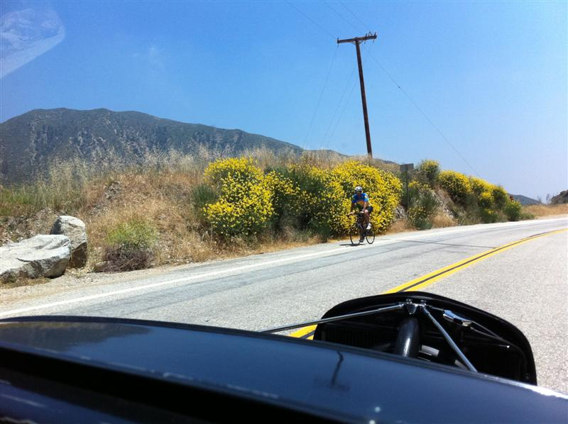 Passed several cyclists going both UP and down the mountain.