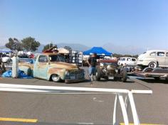 Swap meet at the end of the day on Saturday.