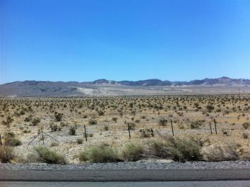 About 2 hours east of Pomona. Back to desert landscape.