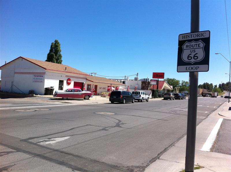 Across the street from our Motor Inn in Williams was this Route 66 Diner. Perfect place for breakfast.