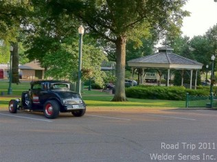 Collierville TN just east of Memphis. Quaint historic district with a lovely little park, old working service station, shops, train station. Will try to go back tomorrow to get a picture of the '32 in front of the service station.