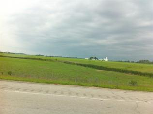 Green fields & farms along I-75 North.