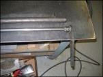 Here is the Sway bar. The smaller Spring steel bar rides inside or the larger tube, and is issolated by poly bushing at either end. We also used Welder Series alternate swaybar mounting method.