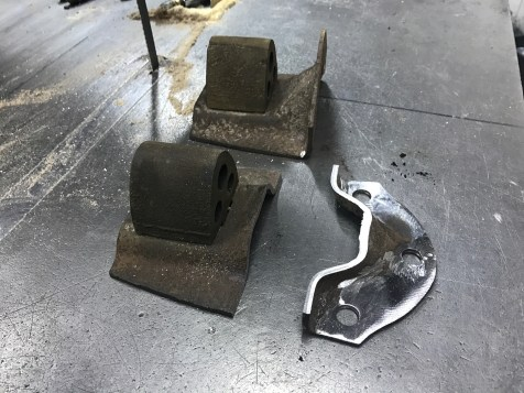 The bump stop will be contacting the axle instead of the leaf spring, and since the bracket holding it to the frame was lower than the actual rubber, I had to trim it.