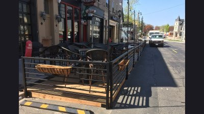 Railing for Parklet