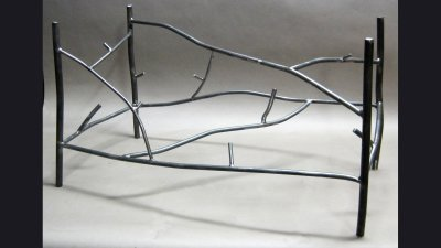 "Steel ""Twig"" Coffee Table for Glass Top"