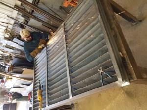 Awning fabricated Welding Shop, Texas