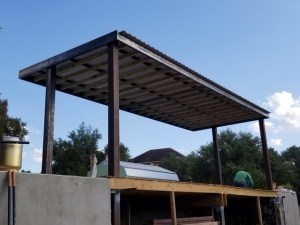 Pool Awning-Welding Shop