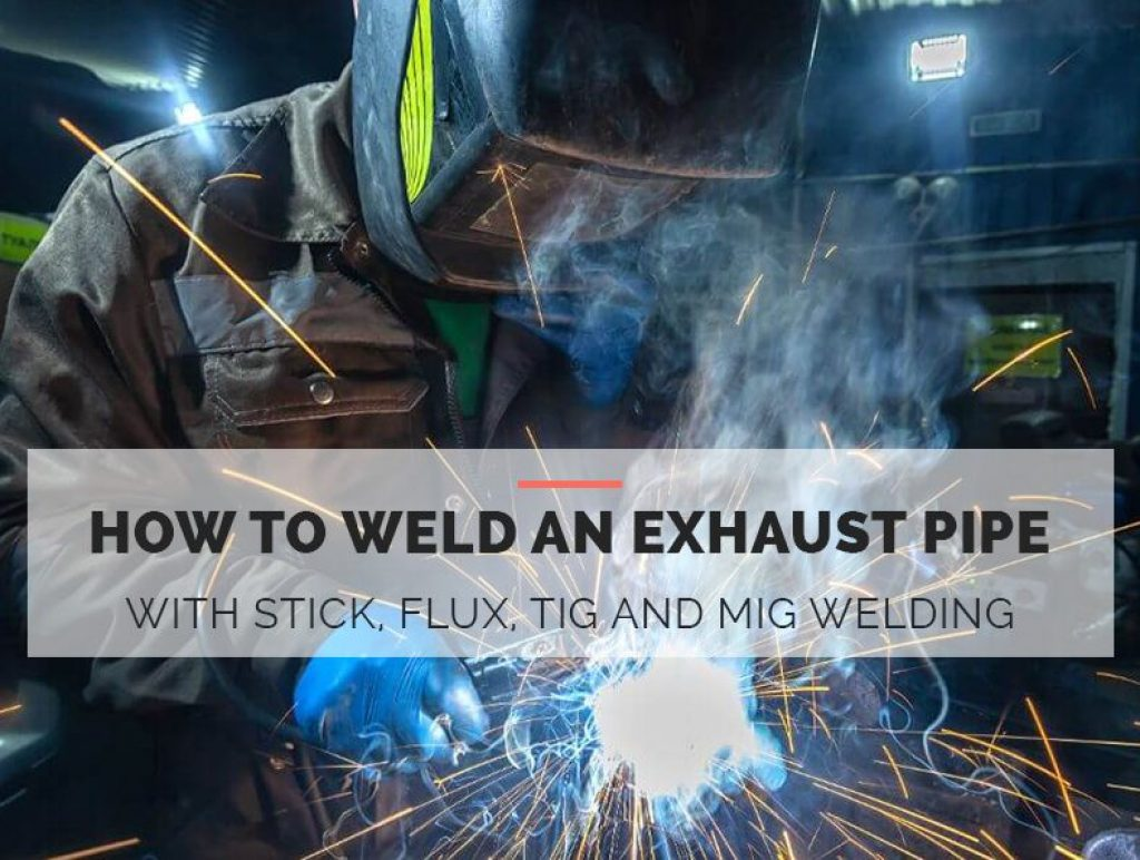 how to weld the exhaust pipe with stick