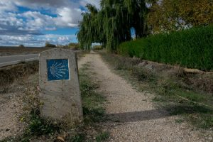 Camino frances wandelpad naar Compostela