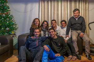 ontvangst door een familie in gastvrij Portugal